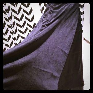 Dresses & Skirts - Custom made XL black satin long skirt
